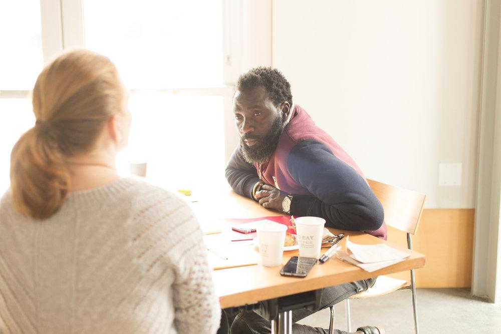 Baba Afolabi talks with Ingrid Jacobson at Path 2 Cash 2016.