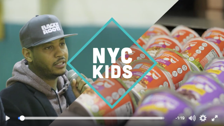 Seed fund company Back to the Roots teamed up with Carmelo Anthony to bring its cereals to New York City Public schools!