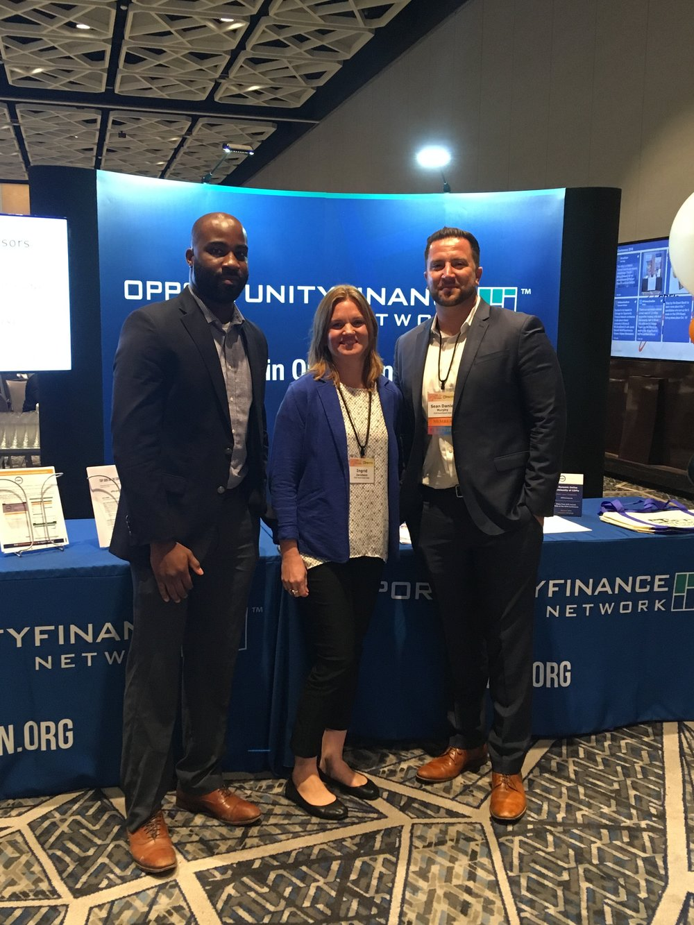 Sean, Ingrid, and Rasheed at the OFN Conference in Chicago