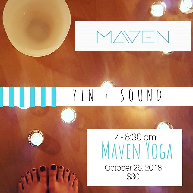 Friday night! Sound bath it up with us!! @mavenyoga