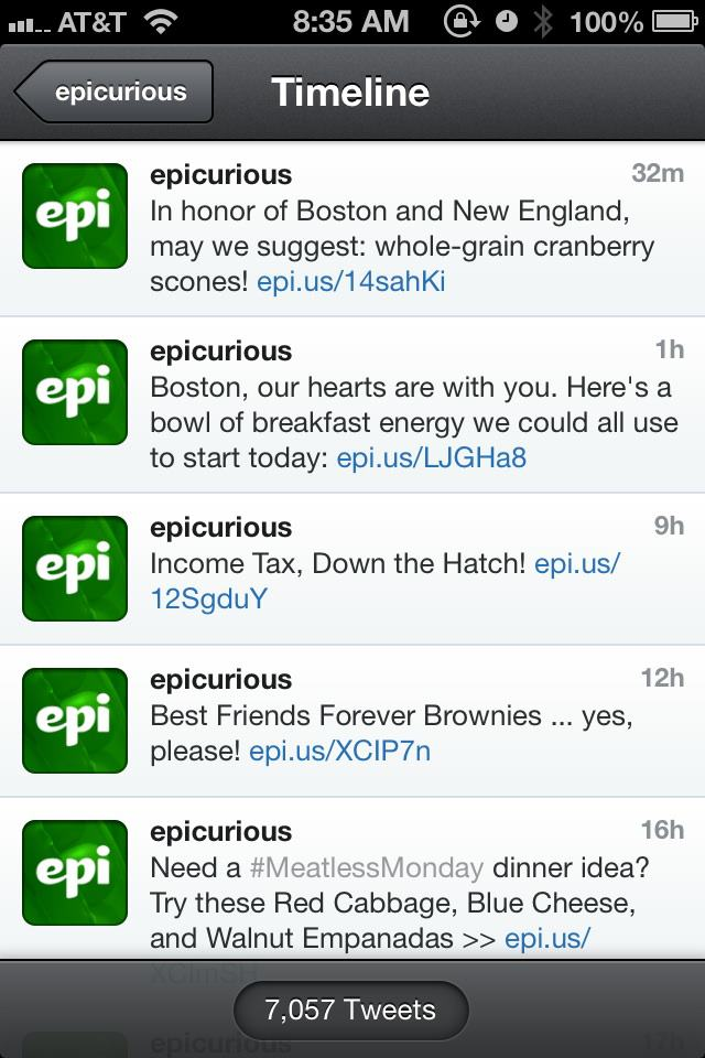 Epicurious screen shot