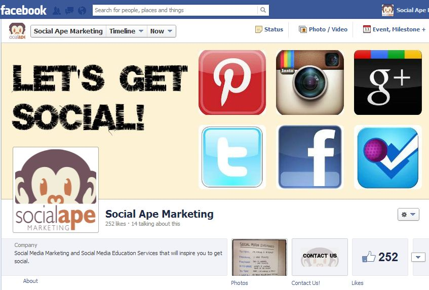 social ape fb page