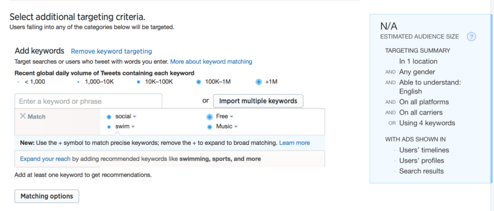 Keywords Twitter Ad Blog