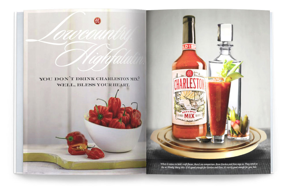 COPY: When it comes to bold, craft flavor, there's no comparison. Even Garden & Gun says so. They voted us the #1 Bloody Mary Mix. If it's good enough for Garden & Gun, it's surely good enough for you, hon.