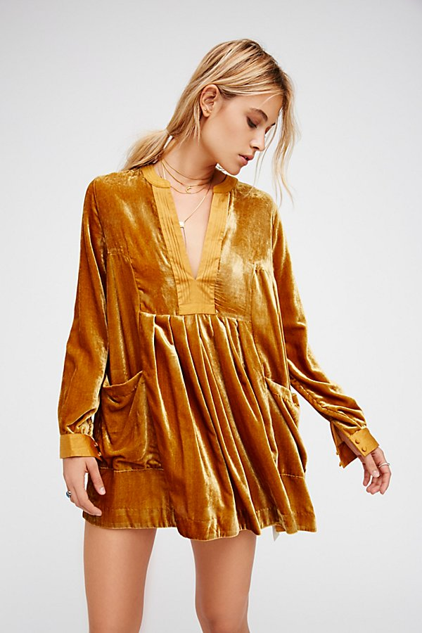 Free People  Choose Me Velvet Mini