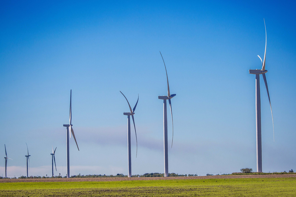 apex clean energy Wind turbine project in Cameron, tx