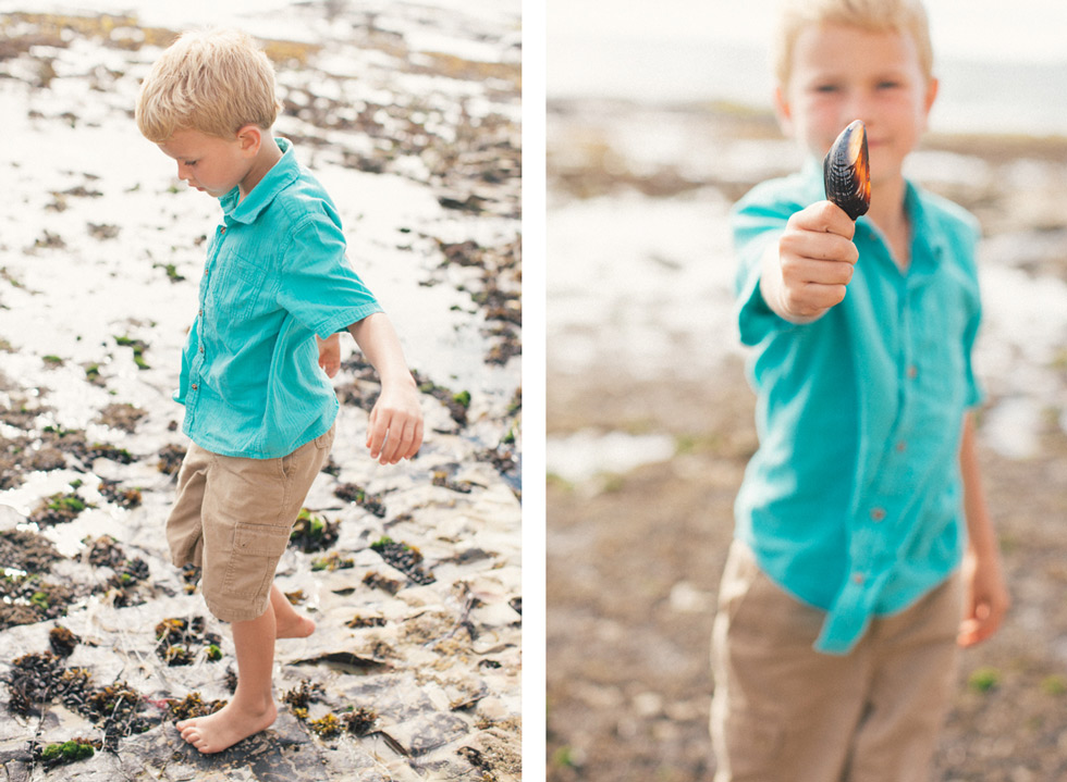 San Francisco family portrait photography children beach seashell fine art