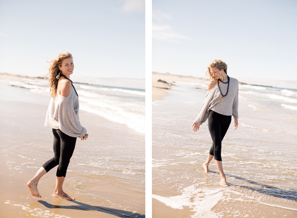 Yoga Teacher Santa Cruz Beach Photograph Ocean Sand Natural Lifestyle California