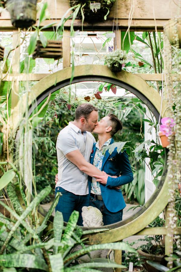 Harvey & James // Conservatory of Flowers Engagement — Nico