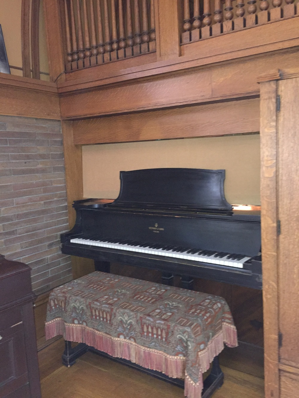 FLW playroom piano built into wall