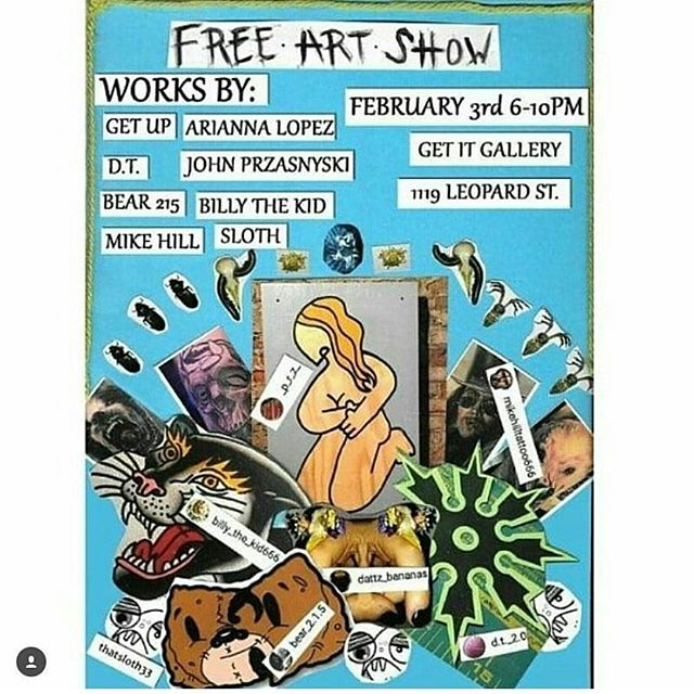 Tonight's the night! @getitgallery #philly #fishtown #phillystreetart #nolibs #free #shoplocal #firstfriday