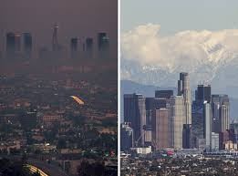 LA in 1980 and LA recently. USC researchers concluded in a paper published in the New England Journal of Medicine that health increased as air pollution decreased over the 30 year period.    Click here.