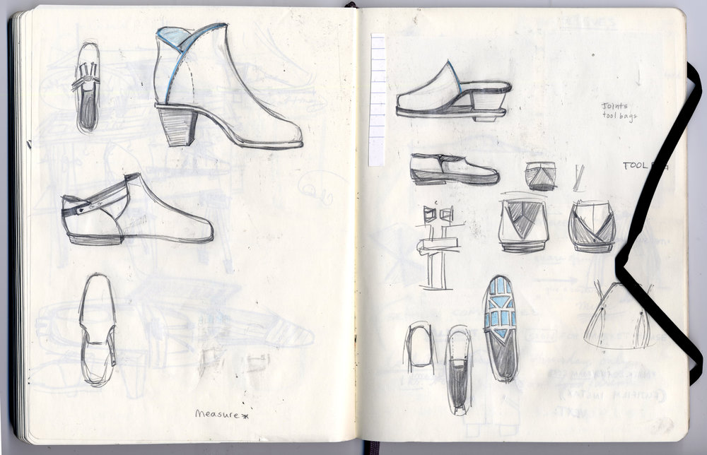 Sketches for Handmade Shoes