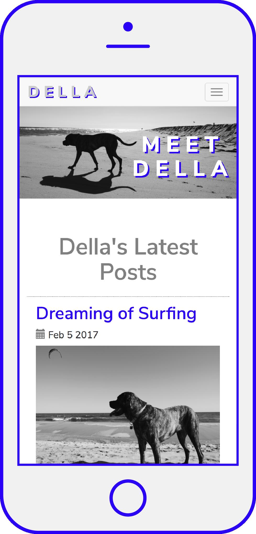 Della Blog by Leanne Luce using Django Python