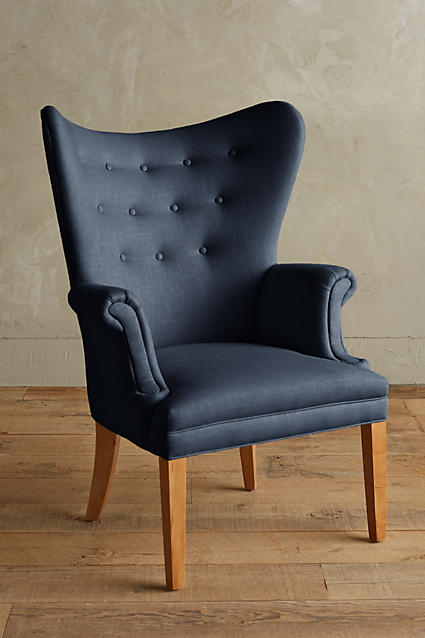 Linen Wingback Chair - Navy.jpeg