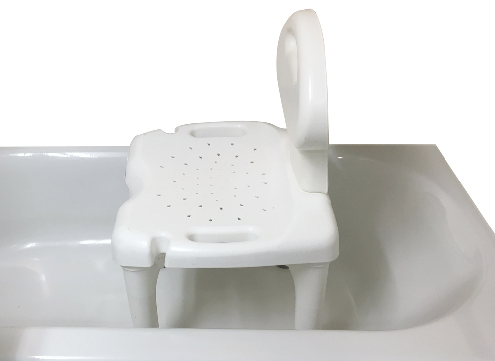 Bath seat with back rest