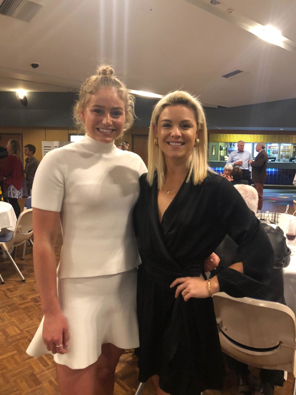Anthea Warne with guest speaker Katie Williams at the FNC Awards of Excellence Dinner 2018