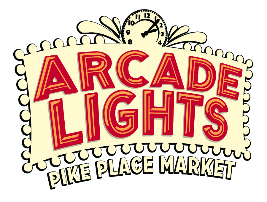 Arcade Lights at Pike Place Market Logo