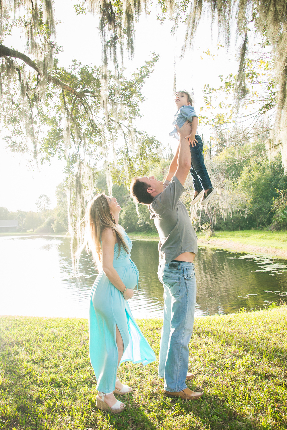 Tampa maternity session ,turquoise