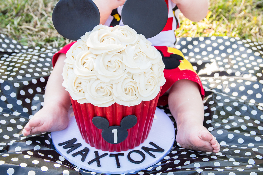 Smash cake session , Mickey Mouse theme
