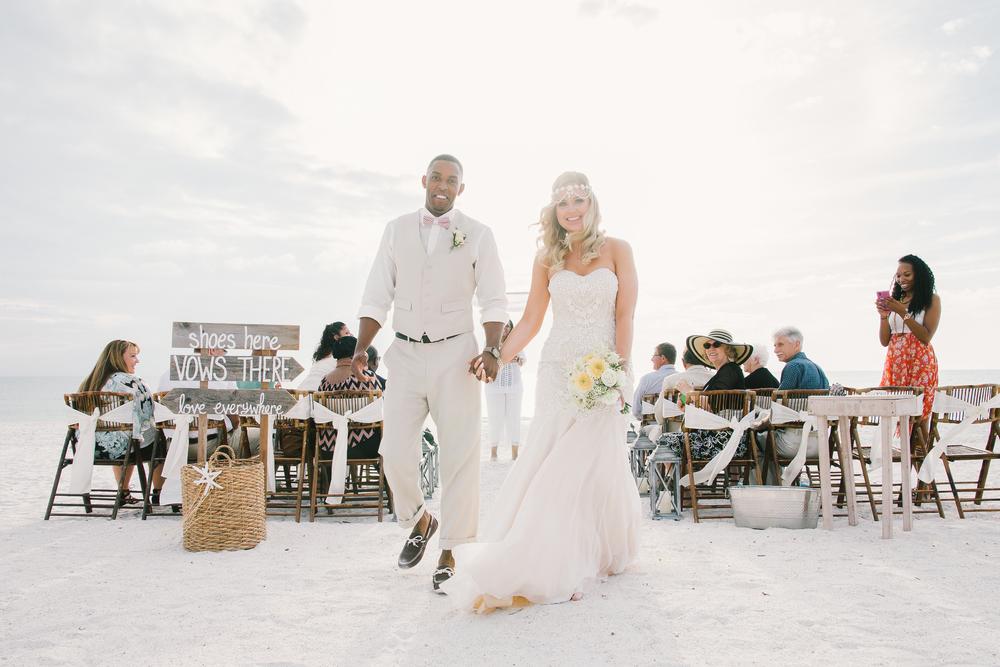 Ivory Vintage Beach Wedding