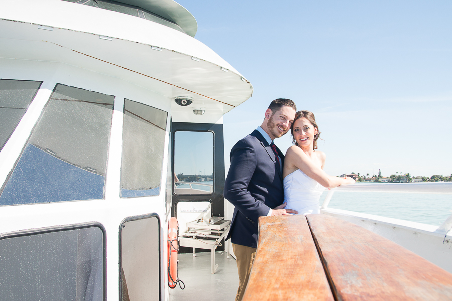 St.Pete wedding photographer, Starlite Dinner, Yacht intimate wedding