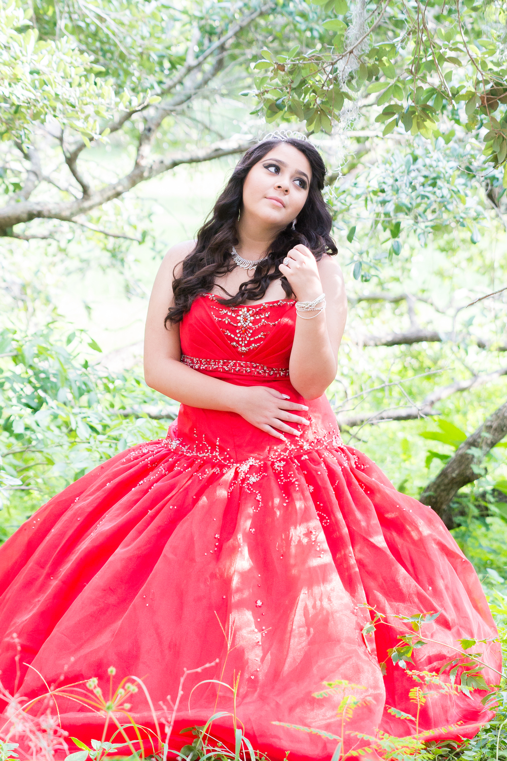 Tampa quinceanera, Phillie park portrait session, quinceanera session