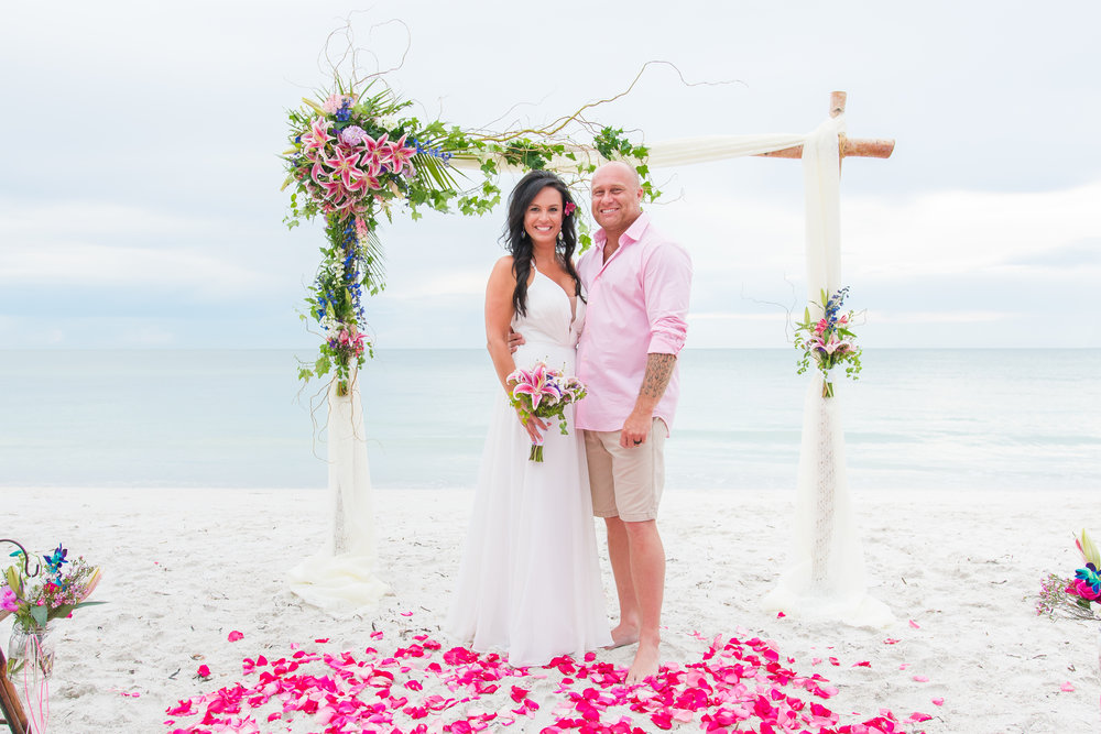 Tampa wedding photographer | Anna Maria Island beach wedding