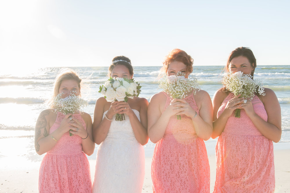 Bridesmaids & bride, St.Pete wedding photographer, St.Pete wedding, St.Pete beach, tide the knot beach weddings, mir salgado photography, Tampa wedding photographer