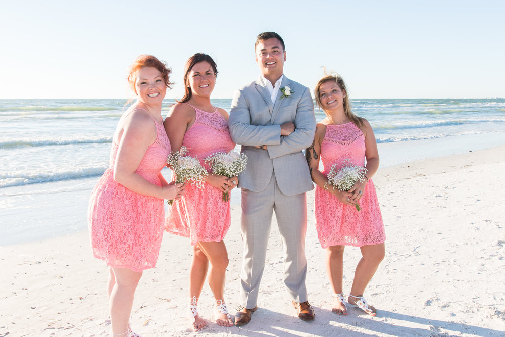 bridesmaids & groom, St.Pete wedding photographer, St.Pete wedding, St.Pete beach, tide the knot beach weddings, mir salgado photography, Tampa wedding photographer
