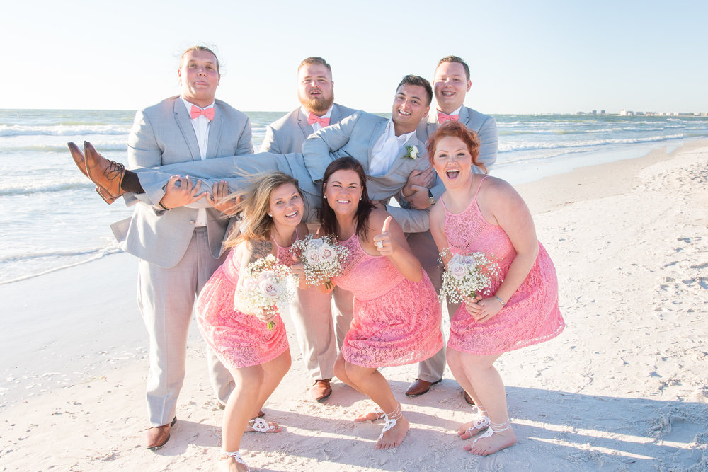 bridal party, St.Pete wedding photographer, St.Pete wedding, St.Pete beach, tide the knot beach weddings, mir salgado photography, Tampa wedding photographer