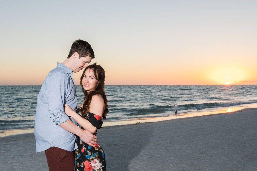 Sarasota-beach-sunset-engagement-session