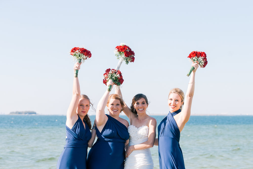 Apollo-beach-wedding, Bridesmaids-photography-Tampa