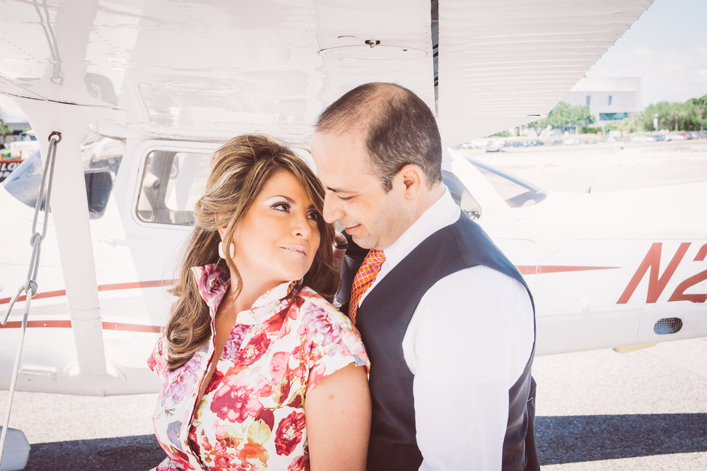 St.Pete-engagement-session-at-the-airport, St.Pete-wedding-photographer