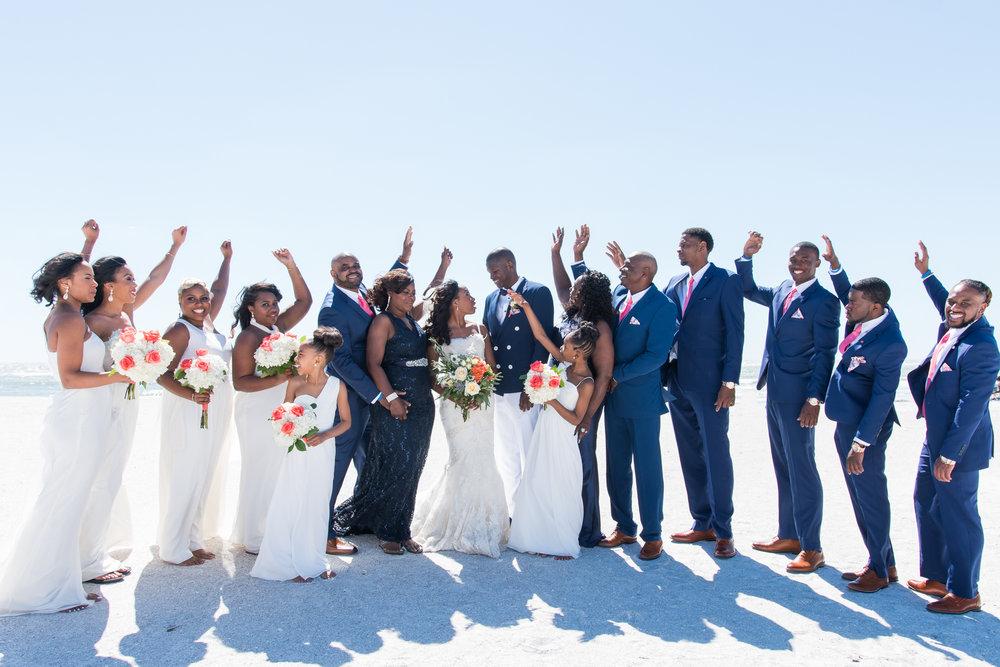 St.Pete-wedding-photo, beach-wedding-photo, bridal-party-photo