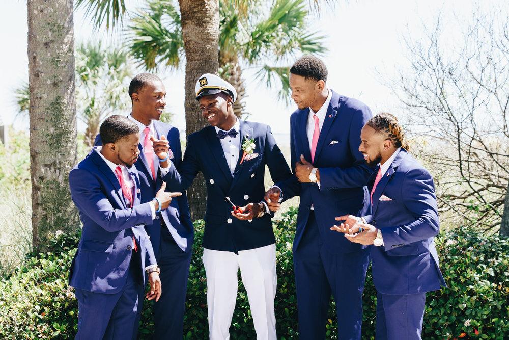 St.Pete-wedding-photo, groom-and-groomsmen