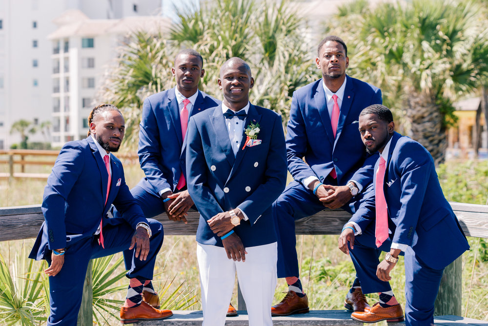 groom-and-groomsmen-photo-at-the-beach, florida-wedding