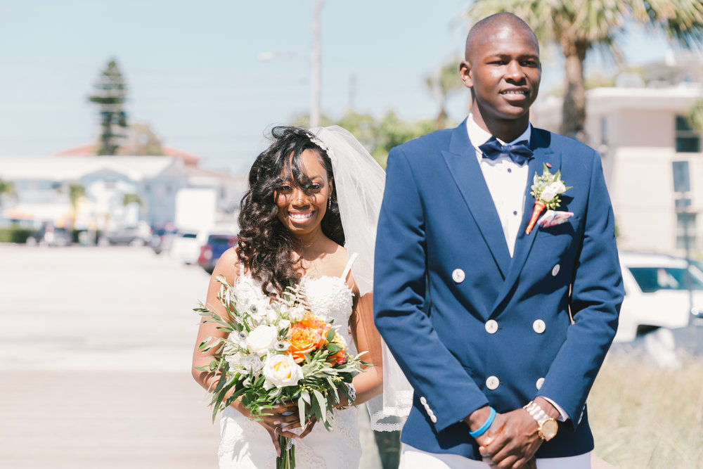 first-look-at-the-beach, Florida-wedding-photo