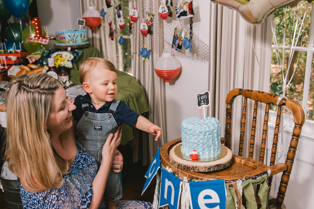 Tampa-first-birthday-party-photo, baby-cake