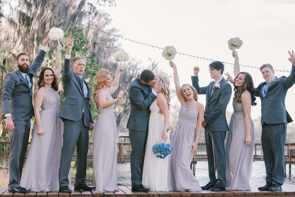 TAmpa-wedding, Tampa-backyard-wedding, bridal-party-photo