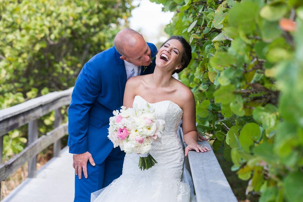 St.Pete-beach-wedding-photo, beach-wedding-bride-and-groom