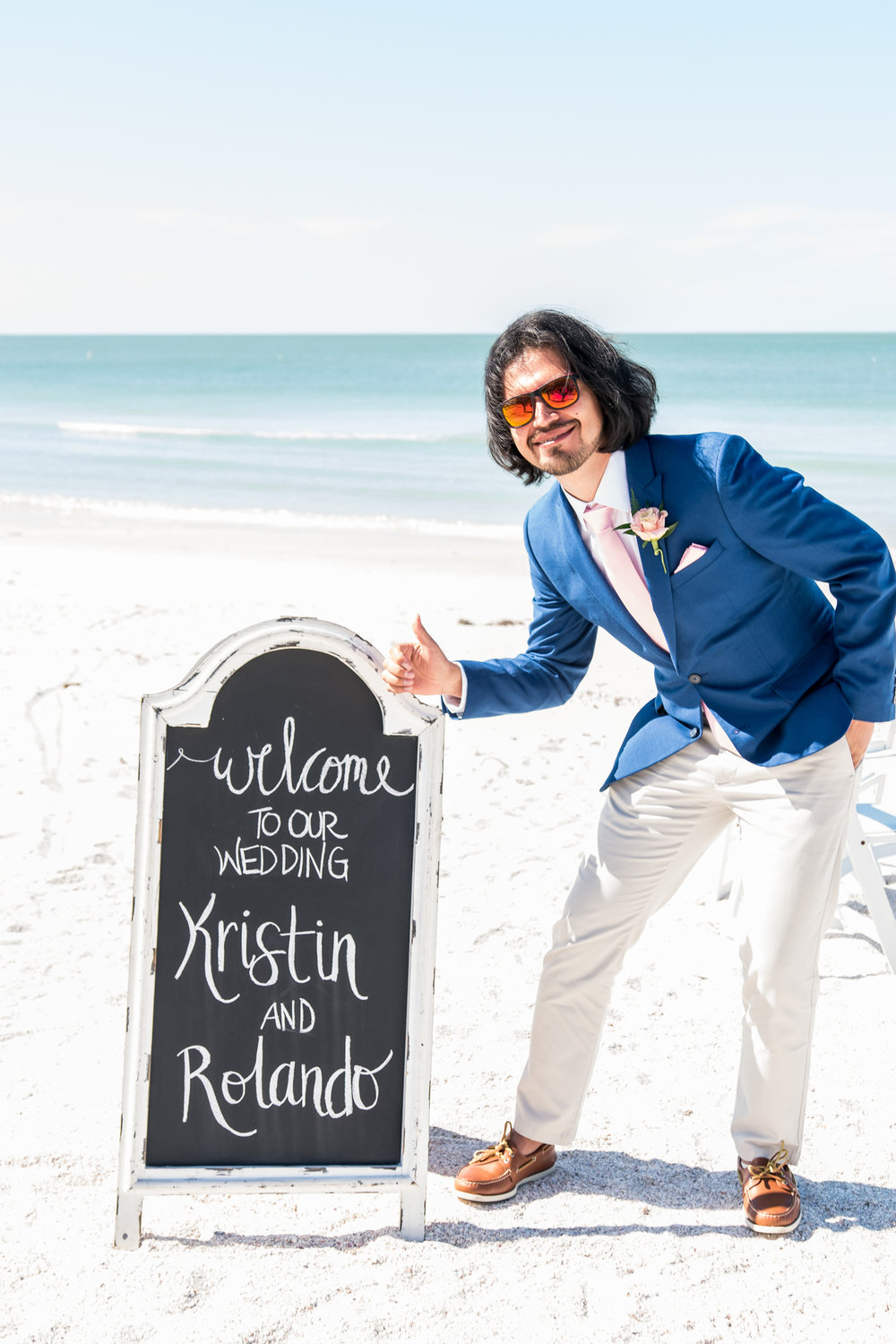 St.Pete-beach-wedding, groom-photo-at-the-beach