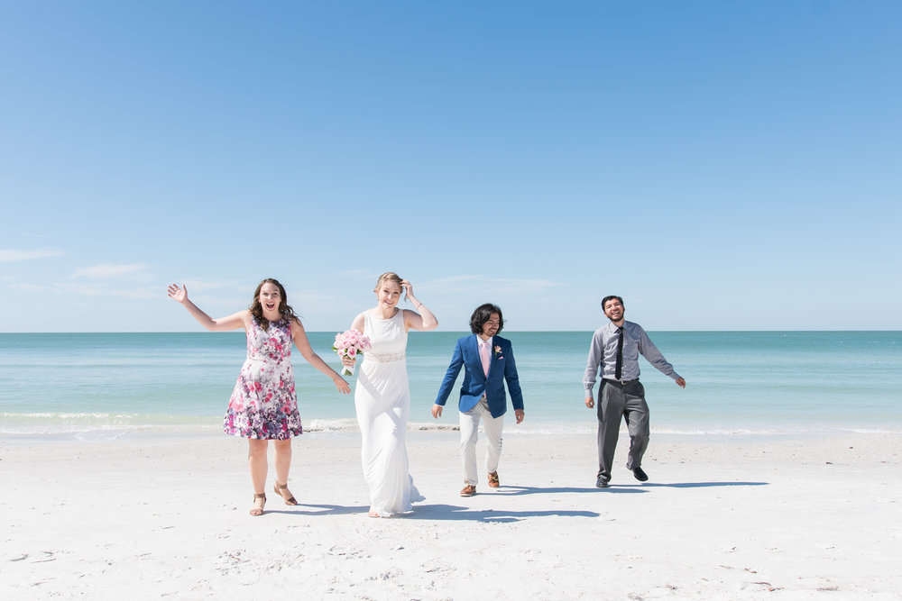 Sunset-beach-bridal-party-photo, St.Pete-photographer