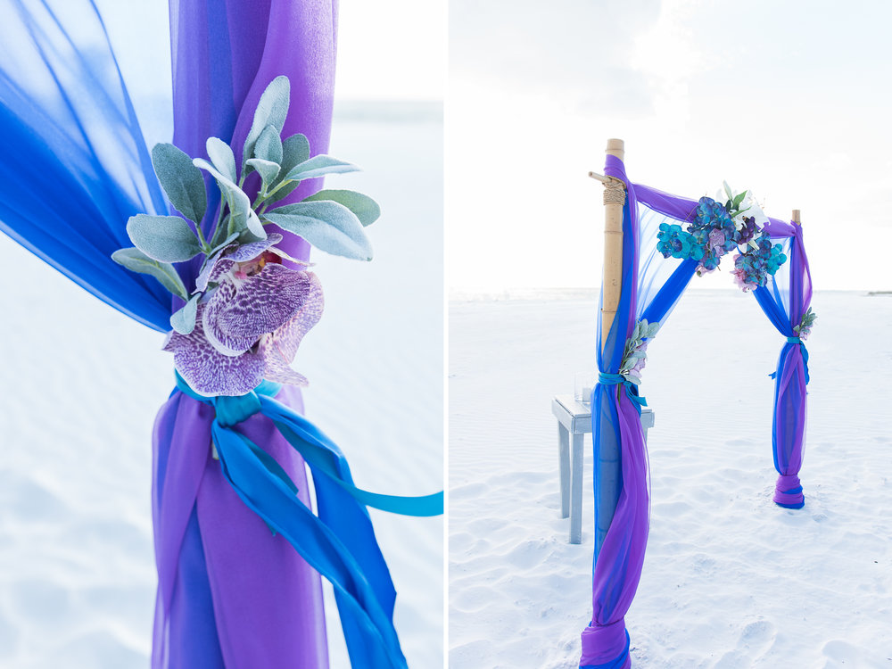 Tide-the-knot-beach-weddings, Siesta-Key-beach-wedding-decoration