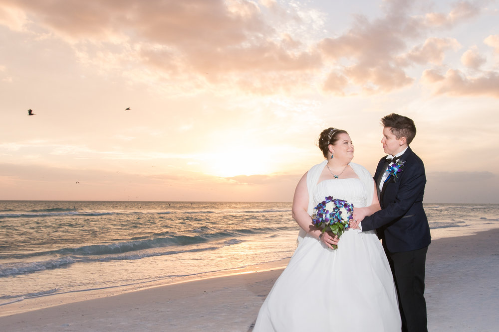 Sarasota-beach-gay-wedding, LGBT-wedding-photo