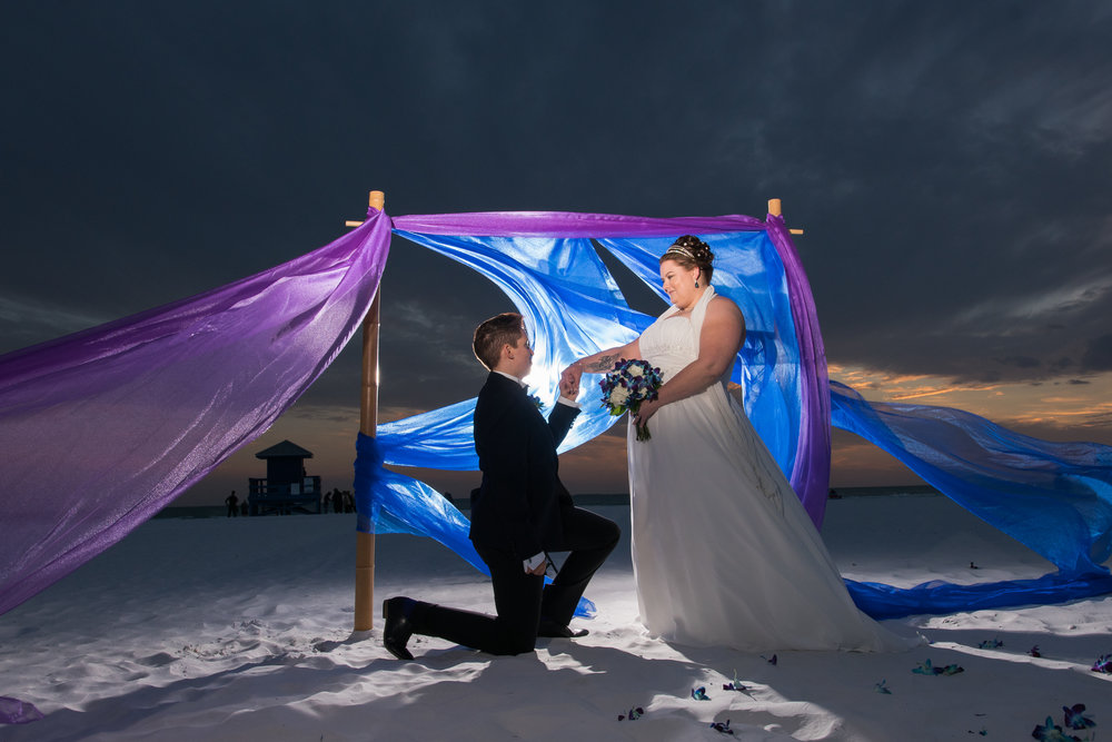Siesta-key-gay-beach-wedding, Sarasota-beach-wedding