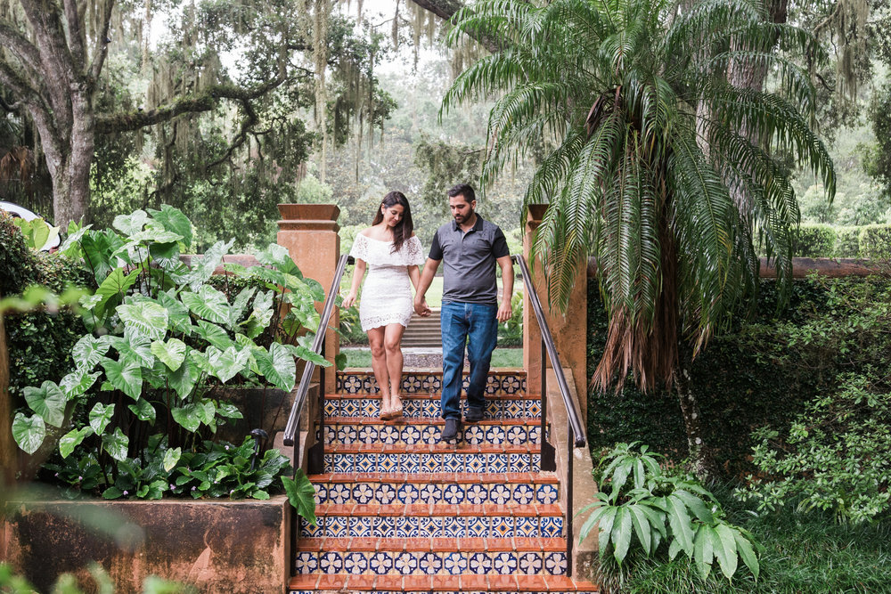 Bok-tower-engagement-session, Tampa-photographer
