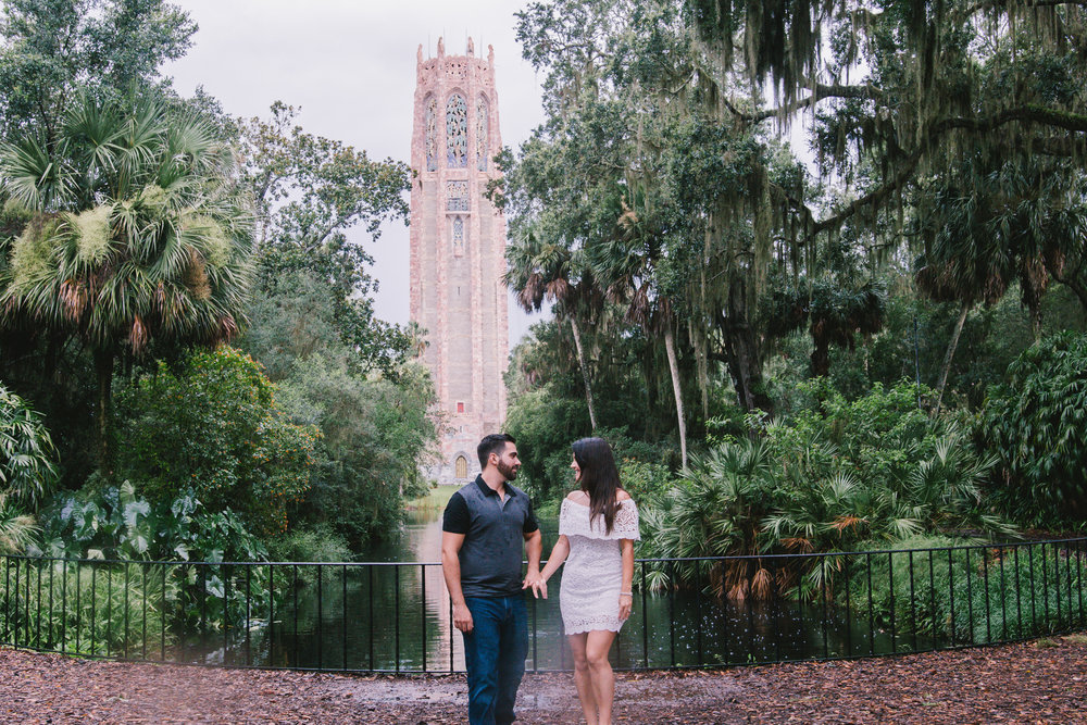 Bok-tower-rainy-engagement-session