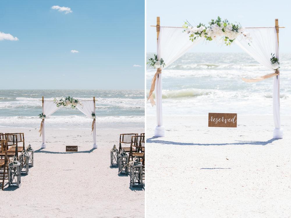 St.Pete-wedding-beach-decoration, Wedding-photography