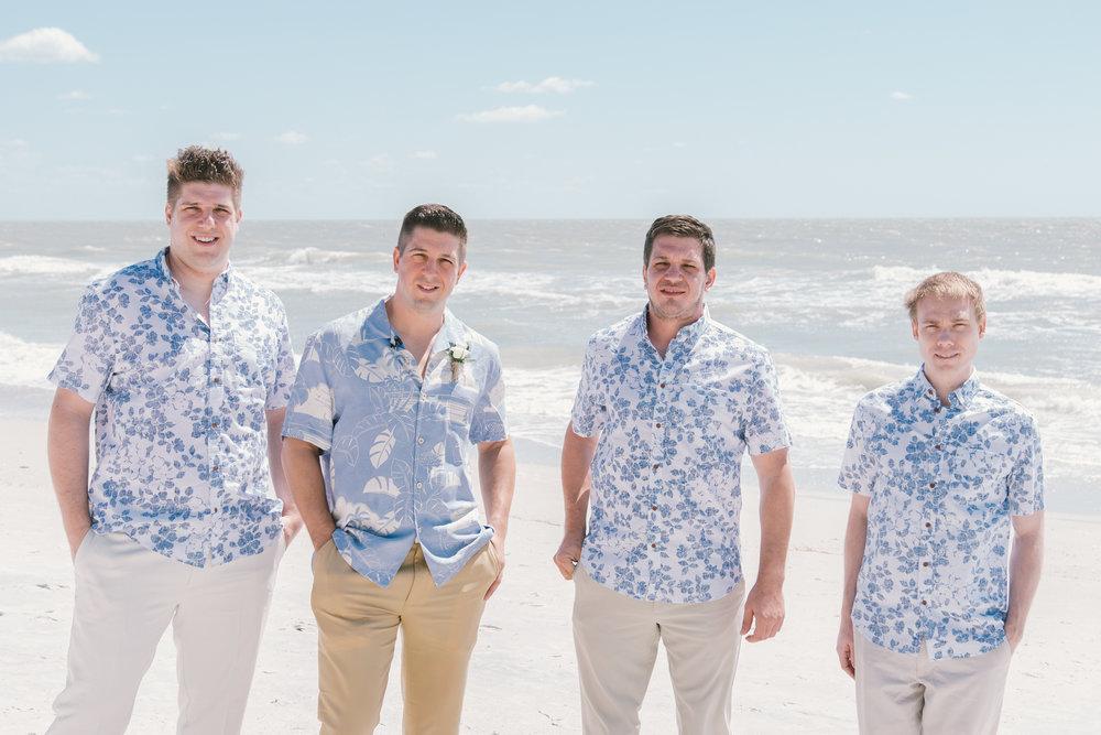 St.Pete-beach-wedding-ceremony, groom-and-groomsmen-photography